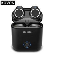 Bluetooth Oortelefoon, Seacase 5.0 Echte Draadloze Oordopjes Deep Bass Stereo Geluid Bluetooth Headset Mini In Ear Binaural Call