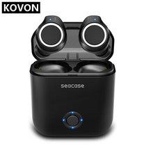 Наушники с Bluetooth Seacase 5,0, беспроводные наушники с глубокими басами, стереозвук, Bluetooth гарнитура, бинауральные мини наушники для звонков