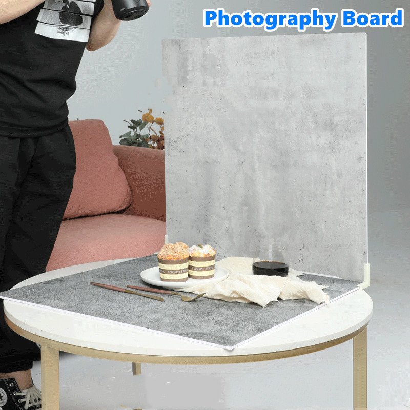 Photography Backgrounds Wood Grain PVC Backdrop Board Durable Waterproof Realistic Marbling Photo for Photographic Photo Studio