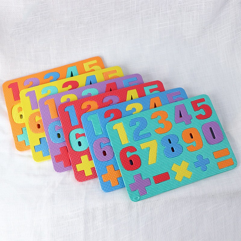 Kids EVA Jigsaw Puzzles Digital Arithmetic Learning Foam Numbers Cognition Game Toy For Children Early Educational Board Puzzles