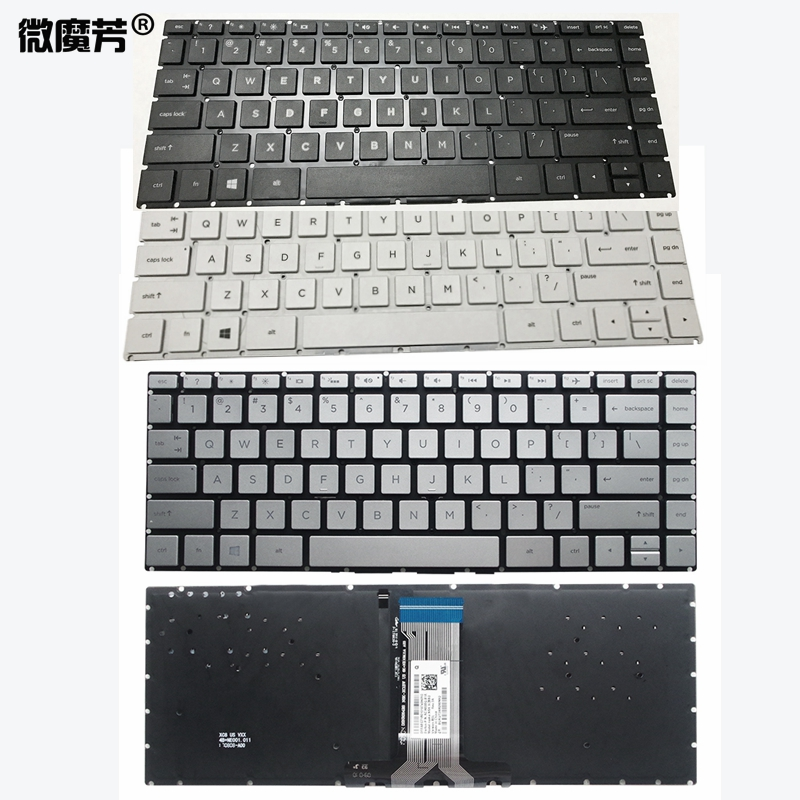 New US Laptop Keyboard For HP Pavilion X360 14-BA 14T-BA 14M-BA 14-BS 14-BS000 BS100TPN-W125 Q186 Q189 C121 Backlit
