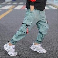 Mode Baby Jungen kleidung Kinder Hosen Hosen Seite taschen Casual Harem Hosen 4 6 8 9 10 12 13 Jahre kinder Baumwolle Cargo hosen