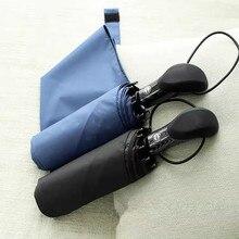Audi için uygun tüm serisi şemsiye üç kat siyah kauçuk otomatik şemsiye rüzgar geçirmez şemsiye araba şemsiye