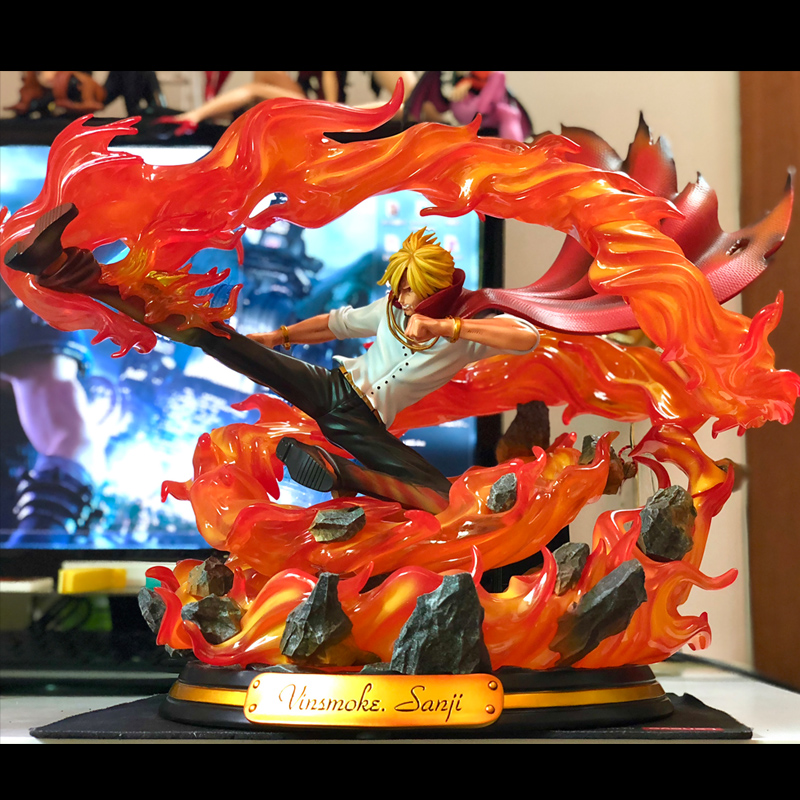 High Quality One Piece KOL Vinsmoke Sanji <font><b>GK</b></font> Resin Statue Action Figure Collection In Sock Now image