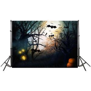 Image 2 - Halloween éléments Photo fond toile de fond tissu pour accessoires photographiques Halloween décoration tissu accessoires pour la fête à la maison