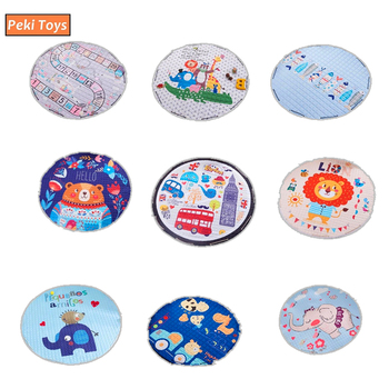 Round Floor Crawling Mat For Baby Room Decoration Play Mats Non Skid Carpet Blanket Kids Toys Storage Bag Room Decor Photo Props