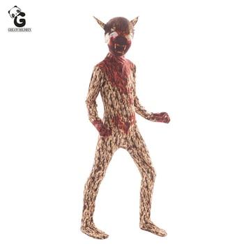 Horror Werewolf Monster Clown Costumes Halloween Costume for kids Scary Zombie Skeleton Costume Creepy Demon Purim Jumpsuit halloween costume party kurten demon zombie scary vampire mask