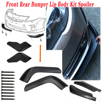 2pcs SUV Sedan Car Spoiler Bumper Wrap Angle For Suzuki Swift Bmw F10 X5 E70 E30 F20 E34 G30 E92 E91 M Volvo XC90 S60 V40 S80 image