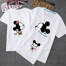 Cute Mouse Print Family Matching Clothes T-shirt Summer Short Sleeve Family Look Matching Family Outfits Funny Tshirt(China)