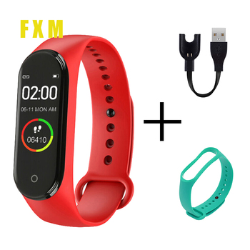 New Smart M4 Wristbands Men Women Waterproof Sports Bracelet Phone Bluetooth Heart Rate Monitor Fitness watches For Android IOS smart wacth men sports waterproof smart phone watch heart rate sleep monitor stopwatch bluetooth ios android wearable devices