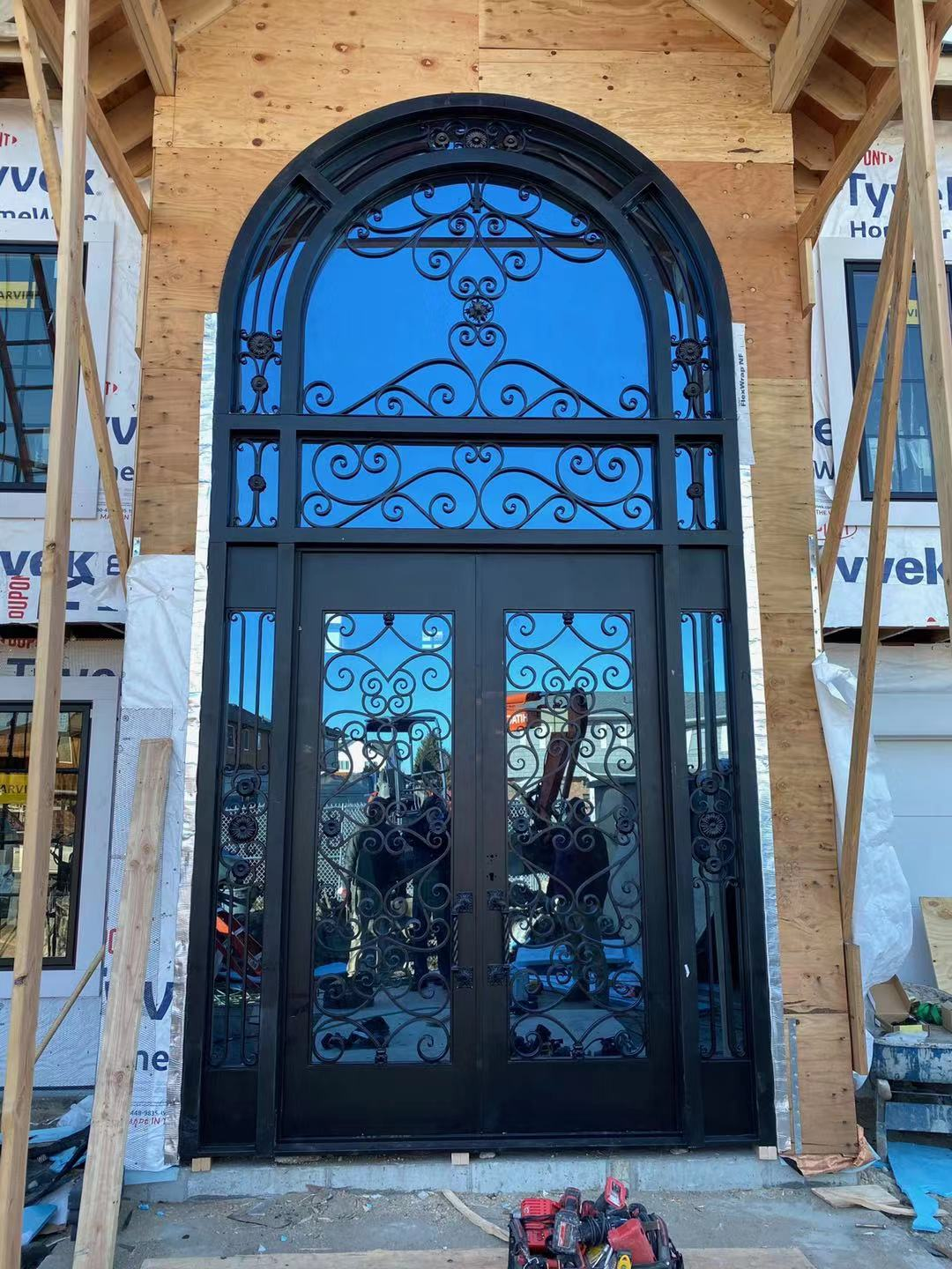 Hench 100% Steels Metal 8ft X 17ft Iron Entry Doors Dallas