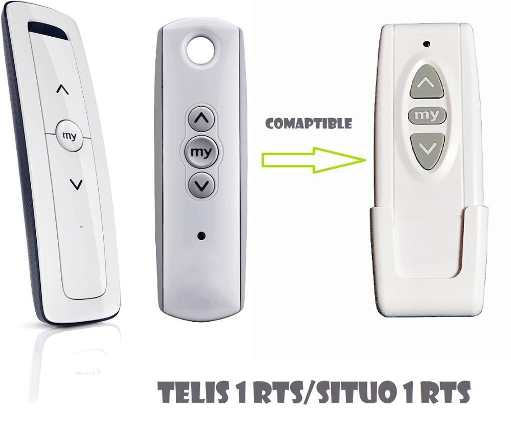 1 pacote telis situo 1 rts controle remoto 433.42mhz substituição