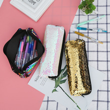 The new ladies sequin bag mermaid student pen with zipper sequins
