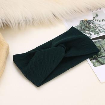 Cotton Elastic Knot Headbands Hair Accessories For Baby Girl Twist Cross Hairband Makeup Head Band 2020 Women Fashion Hair Ties 5