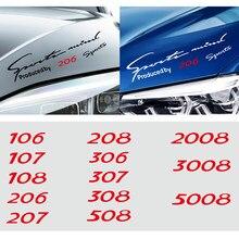 Estilo do carro Lâmpada Sobrancelha Etiqueta para Peugeot 106 107 108 206 207 208 306 307 308 508 2008 3008 5008 Luz Sobrancelha Decoração Decalques