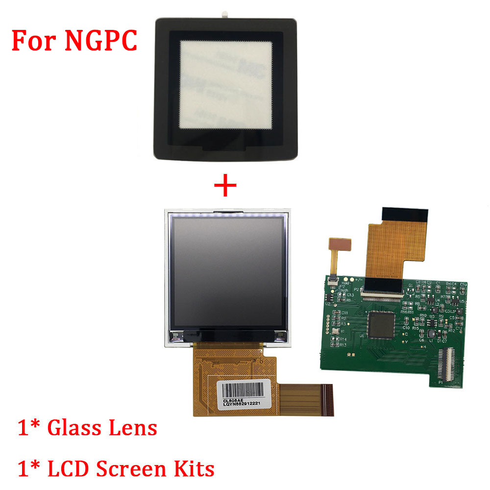 LCD Screen Replacement Kits With Glass Lens For NGPC Backlight For SNK NGPC LCD Screen High Light Gamepad Console Accessories