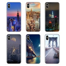 Para Samsung Galaxy S2 S3 S4 S5 MINI S6 S7 borde S8 S9 Plus nota 2 3 4 5 8 funda para teléfono nueva York NYC Estatua de la libertad(China)