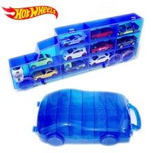 Hot Wheels портативный пластиковый ящик для хранения удерживает 16 спортивных литых под давлением моделей автомобилей игрушки для детей развивающие грузовик мальчик друг Juguetes