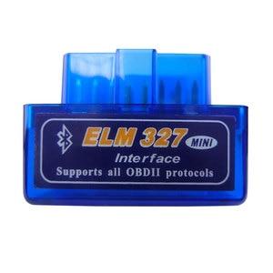 Super Mini Elm327 Bluetooth OBD2 V1.5 Elm 327 V 1.5 OBD 2 Car Diagnostic-Tool Scanner Elm-327 OBDII Adapter Auto Diagnostic Tool(China)