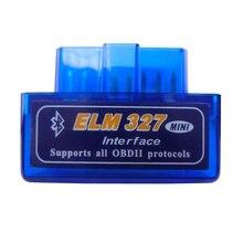 Super Mini Elm327 Bluetooth OBD2 V1.5 Elm 327 V 1.5 OBD 2 Mobil Diagnostik Alat Scanner Elm-327 adaptor OBDII Auto Alat Diagnostik