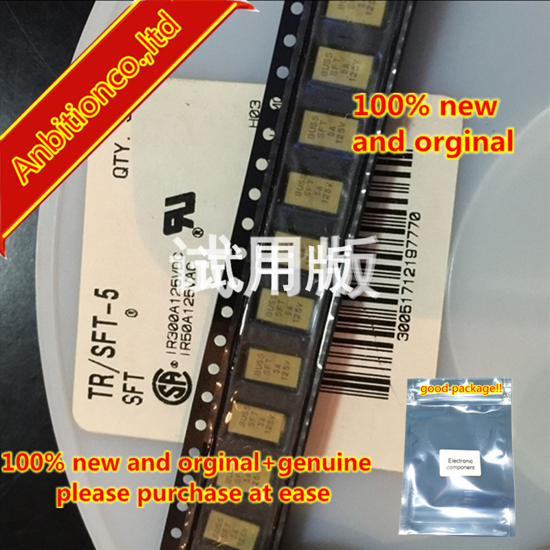 10pcs 100% New And Orginal TR / SFT-5 SFT 5A 125V SMD Fuse In Stock