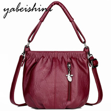 women leather Shoulder Bags Top luxurious handbags women crossbody bags for women bolsos mujer de marca famosa 2019 sac a main цены