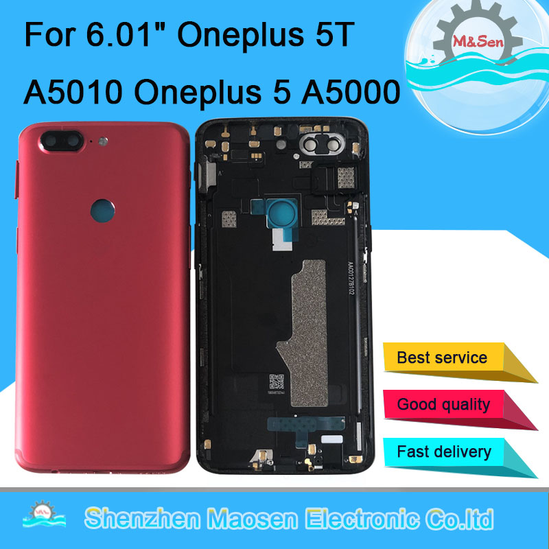 Cover Housing Sim-Card-Tray Oneplus Sen Original Case Back-Battery Door for 5T A5010