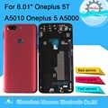 Original M & Sen Für Oneplus 5T A5010 Oneplus 5 A5000 Zurück Batterie Abdeckung Fall Gehäuse + SIM Karte fach + Power Seite Tasten Hinten Tür