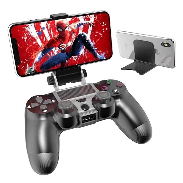 PS4 تحكم قبضة اليد حامل كليب حامل الذكية الهاتف المحمول حامل المشبك جبل قوس غمبد تحكم حامل حامل ل PS4