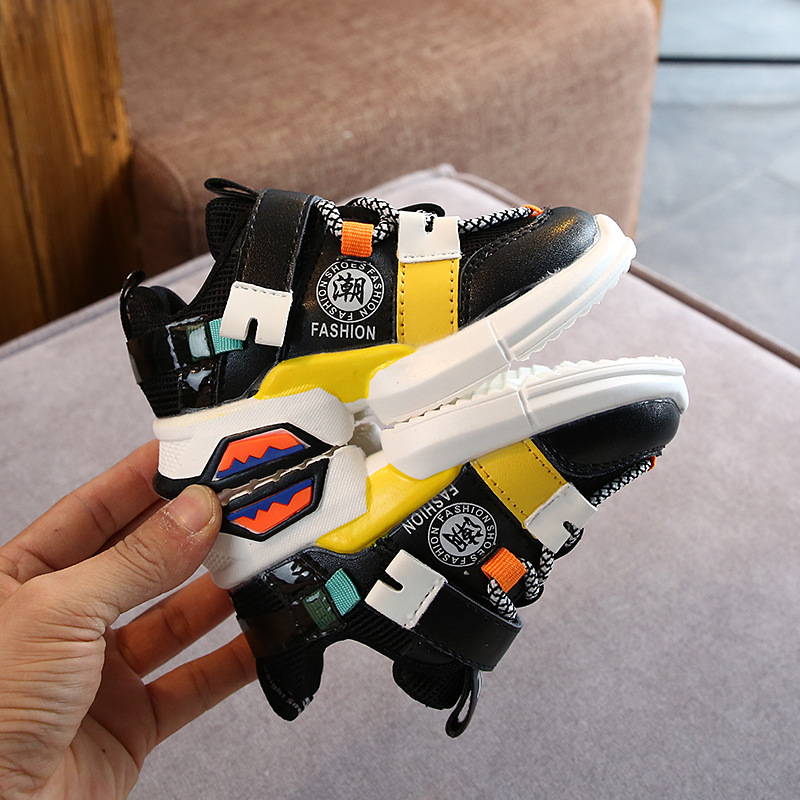 2020 New Kids Sports Shoes Children Casual Boys Patchwork Sneaker Anti-Slippery Sneakers for A Boy Chaussures Enfant Garcon 3