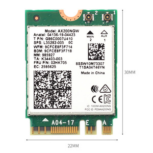 Image 5 - Dual Band 802.11ax Wifi 6 Voor Intel AX200 Ngff M.2 Sleutel E Draadloze Kaart AX200NGW MU MIMO 2.4G/5ghz 2400Mbps Bt 5.1 Met Antennes