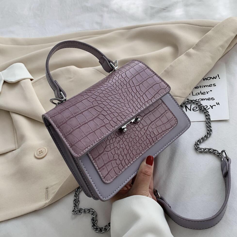 Patrón de cocodrilo Bolso pequeño bolso Vintage 2021 nuevo de alta calidad de la PU de cuero de las mujeres del diseñador bolso cadena bandolera de hombro