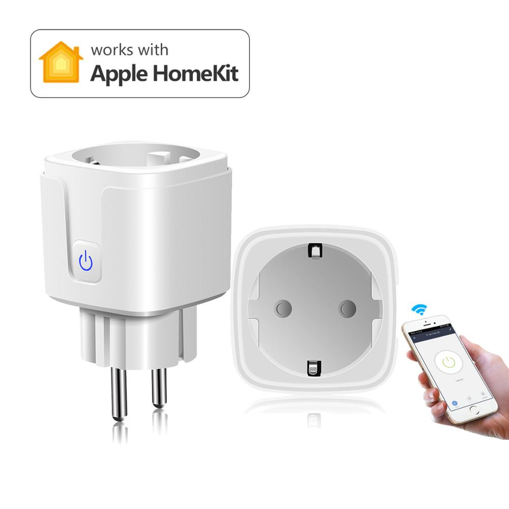 Enchufe inteligente Apple Homekit stopcontact enchufe Wifi enchufe de pared salida inteligente 220V 110V Siri Control remoto por voz wi-fi inteligente