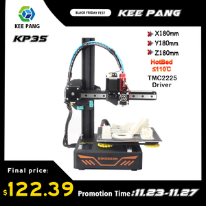 New Upgraded 3D Printer DIY KIT Magnetic Build Plate KP3S 3D Printer With TMC2225 Drive Resume Power Failure Printing
