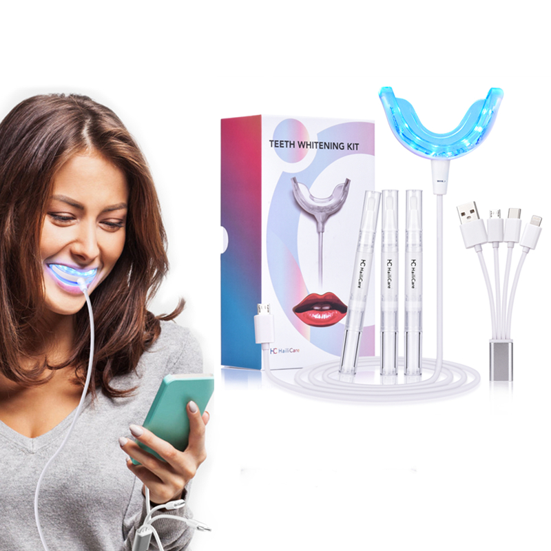 Professinal Dental Teeth Whitening Kit With Led Light Bleaching