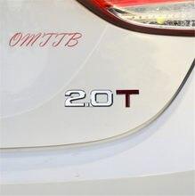 1pc 3D ABS 2.0T 2.0 3.0 emblème voiture-style badge décalcomanies pour renault toyota bmw ford focus 2 voiture autocollant drôle voiture autocollant