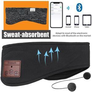 Image 5 - JINSERTA Bluetooth 5.0 음악 헤드 밴드 헤드셋, 요가 체육관 수면 스포츠 이어폰 실행을위한 마이크 무선 이어폰 헤드폰 포함