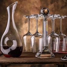 Набор стеклянных бокалов для красного вина домашний хрустальный