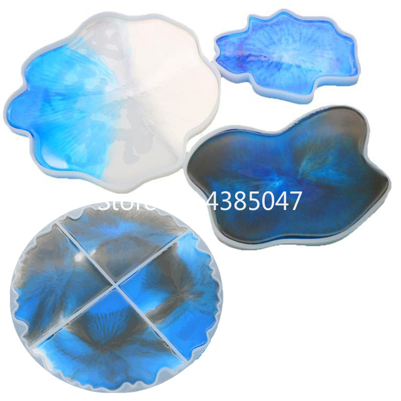 Irregular Cup Tray UV Resin Epoxy Mold Jewelry Accessories Transparent Silicone Coaster Decorative Craft