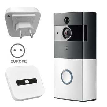 WiFi Video New Wire-free Doorbell With 8G TF Card 720P HD PIR Motion Detection Alerts Night Vision HD Camera UK Plug ND9