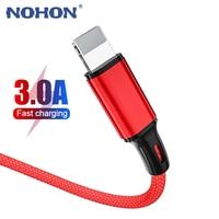 1m 2m 3m USB Kabel Ladegerät Für iPhone 12 11 Pro Xs Max X XR 5 8 7 6 6s Plus iPad Nylon Schnelle Lade Kabel Telefon Herkunft Daten Draht