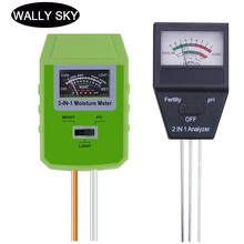 цена на Soil PH Meter 3 in 1/2 in 1 Sunlight PH Meter Tester Light Humidity Acidity Moisture Measurement Tools for Garden Plant Flowers