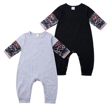 Novelty Tattoo Baby Romper Cotton Long Sleeve Baby