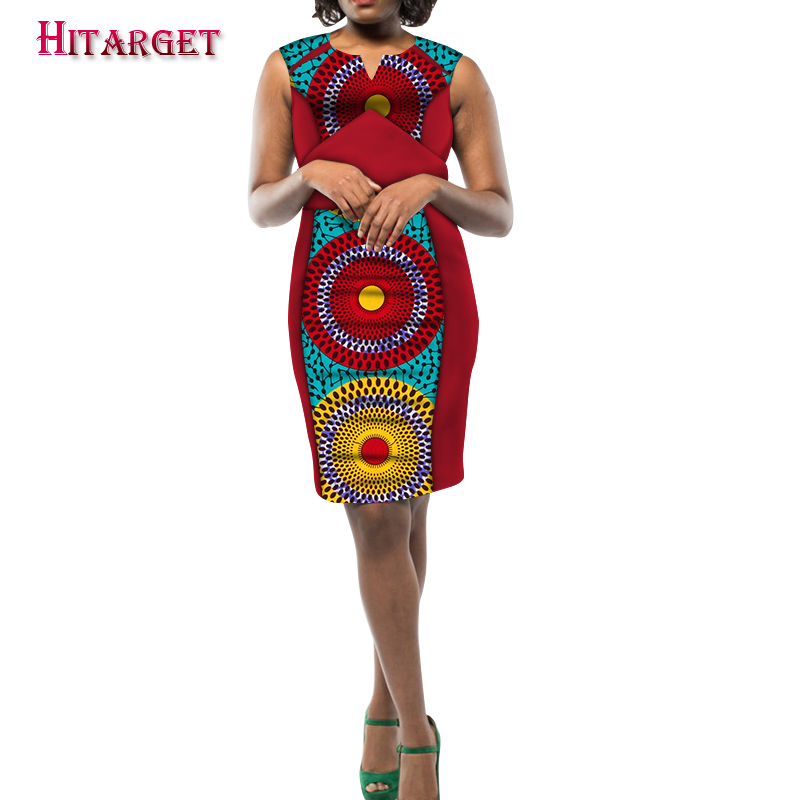 2020 New Hitarget Ankara Wax Print African Dresses For Women Ankara Dresses Party Dress Dashiki Africa Women Clothing WY5495