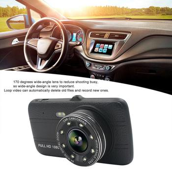 Professional 4 Inch HD Display Car DVR 1080P 170 Degree Wide Angle Infrared Night Vision Car Dash Camera With Rear Lens цена 2017