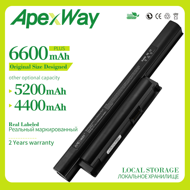 Apexway 6 Cells Laptop Battery For SONY BPS22 VGP-BPS22 VGP-BPS22A For VAIO VPC-E1Z1E VPC-EA1 EA16E EA1S EA45FG/B EA1Z1E EA27EC