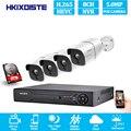 NVR 8CH 5MP CCTV di Sorveglianza H.265 + Kit Sistema di 4 O 8pcs 5MP POE IP Macchina Fotografica impermeabile di Visione Notturna motion Detection Email alert