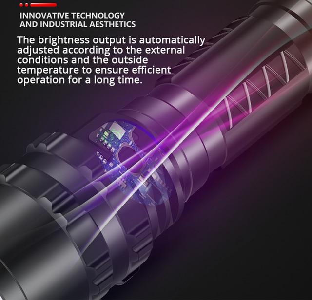 LED Flashlight XHP50.2 Most Powerful Xlamp Hunting L2 Waterproof 5 switch Modes Torch Light Lanterna use 18650 26650 Battery 6