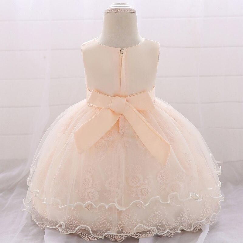 2020 Newborn Child Clothes Christening Dress For Baby Girl Princess Girl Dresses 1st Birthday Party Baptism Dress Girls Wedding