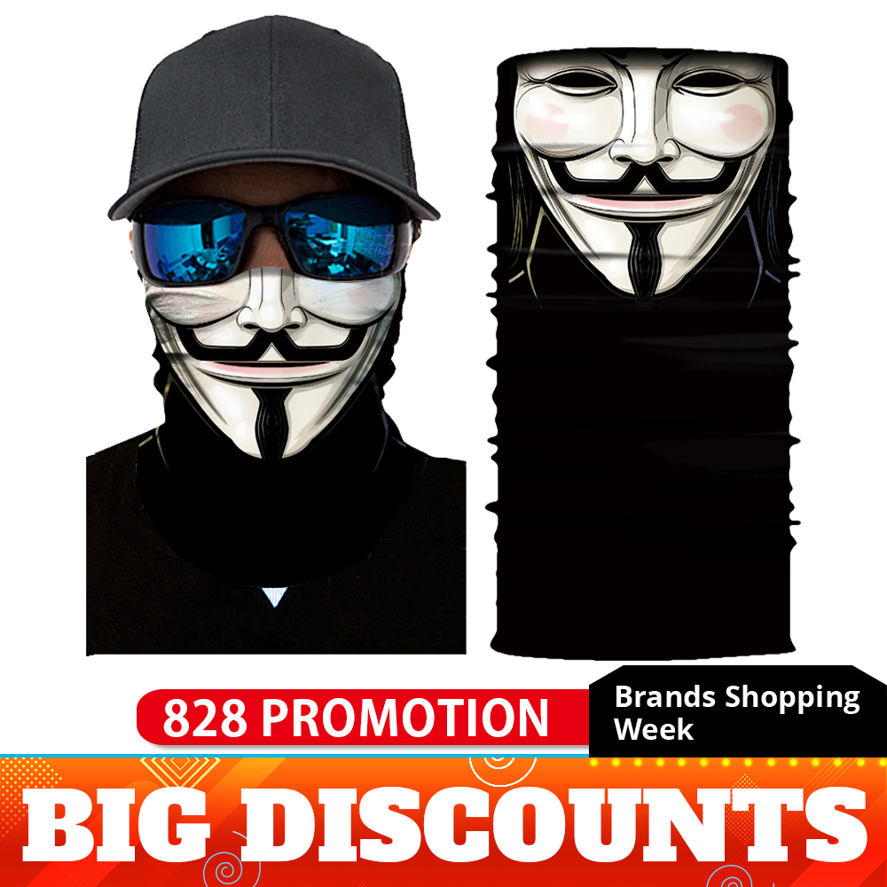 Motorcycle Biker Mask Face Shield Balaclava Mask Skull Face Masks Ghost Bandanas Cycling Ski Mascara Moto Motosiklet Mask